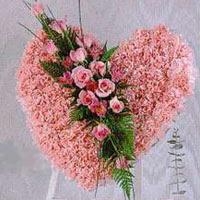 kalp pano karankil ve güller   Adana internetten çiçek siparişi