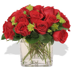 Adana çiçekçi telefonları  10 adet kirmizi gül ve cam yada mika vazo