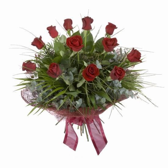 Etkileyici buket 11 adet kirmizi gül buketi  Adana internetten çiçek satışı