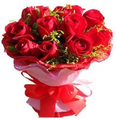 9 adet kirmizi güllerden kipkirmizi buket  Adana çiçekçiler