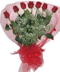 7 adet kipkirmizi gülden görsel buket  Adana çiçek mağazası , çiçekçi adresleri