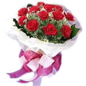 Adana çiçek satışı  11 adet kırmızı güllerden buket modeli
