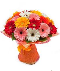 Renkli gerbera buketi  Adana anneler günü çiçek yolla