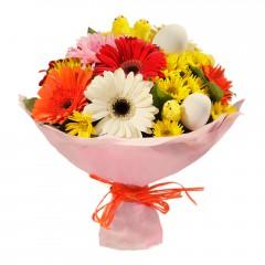Karışık mevsim buketi Mevsimsel çiçek  Adana internetten çiçek siparişi