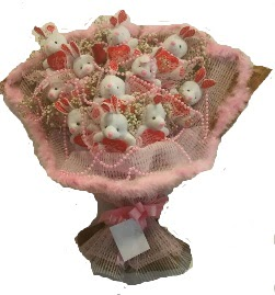 12 adet tavşan buketi  Adana çiçek mağazası , çiçekçi adresleri