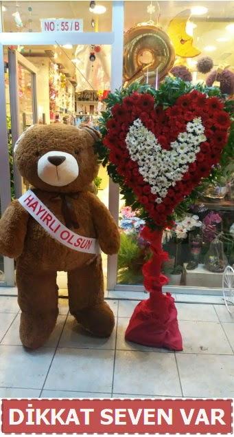 1.5 Metre peluş ayı ve Kalp  Adana çiçek gönderme sitemiz güvenlidir