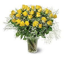 Adana çiçek siparişi sitesi  15 adet sarigül mika yada cam vazoda