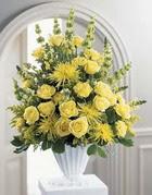 Adana çiçek siparişi sitesi  sari güllerden sebboy tanzim çiçek siparisi