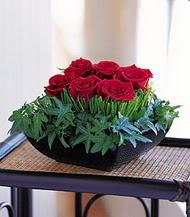 Adana çiçek siparişi sitesi  10 adet kare mika yada cam vazoda gül tanzim
