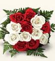 Adana çiçek , çiçekçi , çiçekçilik  10 adet kirmizi beyaz güller - anneler günü için ideal seçimdir -