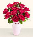 Adana hediye çiçek yolla  10 kirmizi gül cam yada mika vazo tanzim