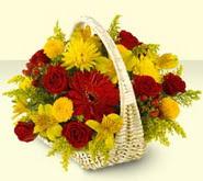 Adana 14 şubat sevgililer günü çiçek  sepette mevsim çiçekleri