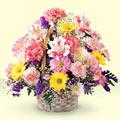 Adana uluslararası çiçek gönderme  sepet içerisinde gül ve mevsim