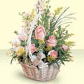 Adana 14 şubat sevgililer günü çiçek  sepette pembe güller