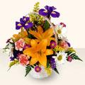 Adana 14 şubat sevgililer günü çiçek  sepet içinde karisik çiçekler
