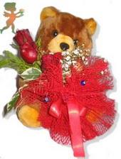 oyuncak ayi ve gül tanzim  Adana çiçekçiler