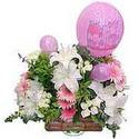 balon ve çiçeklerle tanzim  Adana internetten çiçek satışı