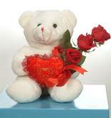 3 adetgül ve oyuncak   Adana online çiçekçi , çiçek siparişi