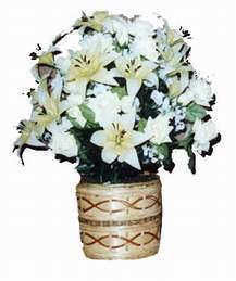 yapay karisik çiçek sepeti   Adana çiçek mağazası , çiçekçi adresleri