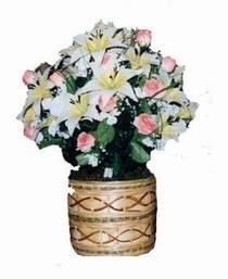 yapay karisik çiçek sepeti   Adana çiçek servisi , çiçekçi adresleri