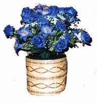 yapay mavi çiçek sepeti  Adana cicekciler , cicek siparisi