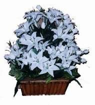 yapay karisik çiçek sepeti   Adana online çiçek gönderme sipariş