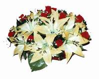 yapay karisik çiçek sepeti   Adana internetten çiçek siparişi