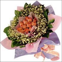 11  adet  gül ve   elyaflar   Adana çiçekçi mağazası