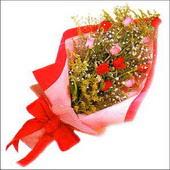 12 adet renkli  gül buketi   Adana çiçekçi mağazası