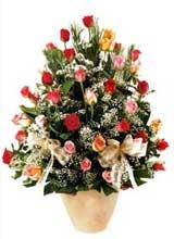 91 adet renkli gül aranjman   Adana çiçek gönderme sitemiz güvenlidir