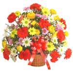 karisik renkli çiçek sepet   Adana çiçek gönderme sitemiz güvenlidir