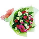 12 adet renkli gül buketi   Adana çiçek gönderme sitemiz güvenlidir