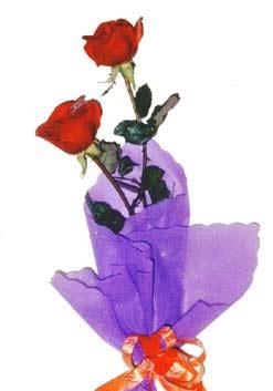2  adet kirmizi gül buketi   Adana çiçek , çiçekçi , çiçekçilik