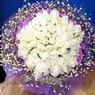 71 adet beyaz gül buketi   Adana çiçek , çiçekçi , çiçekçilik