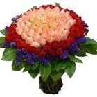 71 adet renkli gül buketi   Adana ucuz çiçek gönder