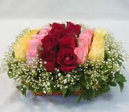 15 adet reprenkli gül sepeti   Adana çiçek yolla