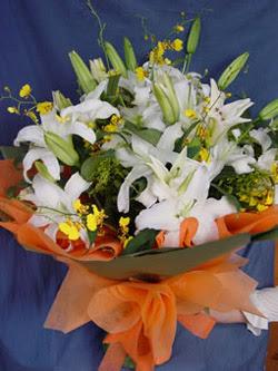 Adana internetten çiçek satışı  5 ADET KAZABLANKA BUKETI KALITEDEN SASMAYANLARA