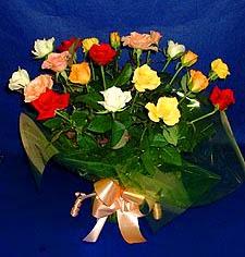 Adana hediye çiçek yolla  13 adet karisik renkli güller