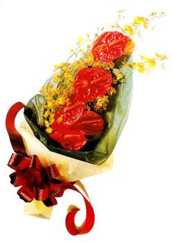 özel 5 adet antorium buketi   Adana çiçek gönderme sitemiz güvenlidir