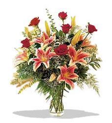 Adana çiçek servisi , çiçekçi adresleri  Pembe Lilyum ve Gül