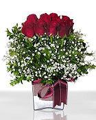 Adana çiçek , çiçekçi , çiçekçilik  11 adet gül mika yada cam - anneler günü seçimi -