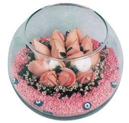 Adana internetten çiçek satışı  cam fanus içerisinde 10 adet gül