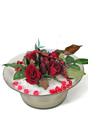 Adana çiçek siparişi vermek  EN ÇOK Sevenlere 7 adet kirmizi gül mika yada cam tanzim
