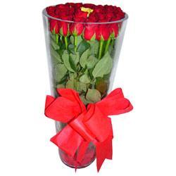 Adana çiçek online çiçek siparişi  12 adet kirmizi gül cam yada mika vazo tanzim
