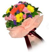 Adana çiçekçi mağazası  Karisik mevsim çiçeklerinden demet