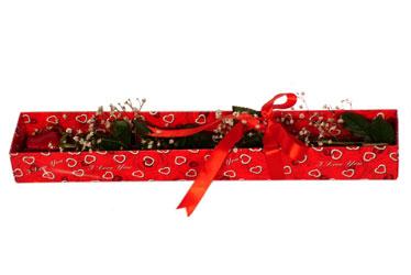 Adana çiçekçi telefonları  kutu içerisinde 1 adet kirmizi gül