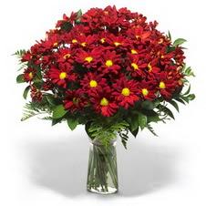 Adana çiçek yolla  Kir çiçekleri cam yada mika vazo içinde