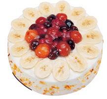 Meyvali 4 ile 6 kisilik yas pasta leziz  Adana ucuz çiçek gönder