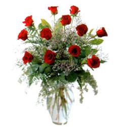 Vazo içerisinde 11 kirmizi gül  Adana çiçek siparişi vermek