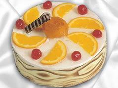 lezzetli pasta satisi 4 ile 6 kisilik yas pasta portakalli pasta  Adana çiçekçi mağazası